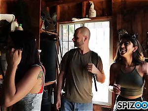 trouser snake longing pick up with Sophia Leone and Gina Valentina