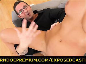 unveiled audition warm minx with glasses drilled firm
