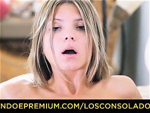 LOS CONSOLADORES - Russian Gina Gerson ravaged in FFM