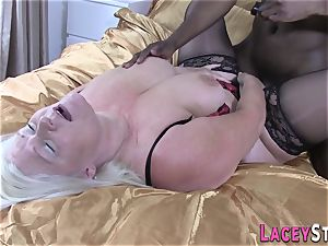Lacey Starr Gets plumbed stiff by a dark-hued fellow