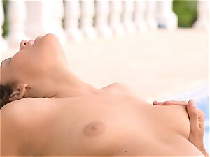 Mia Malkova gets her muff shafted by the pool