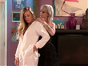 Blazing lesbos Samantha Saint and Kleio Valentien