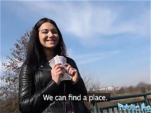 Public Agent Russian waitress smashed outside in public