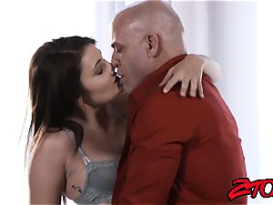 Stepdaughter Adria Rae torn up and gobbling pop-shot