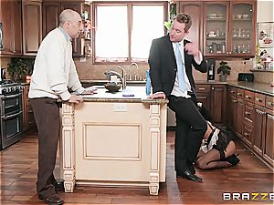 red-hot black maid nearly get caught