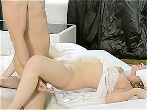 Milana Fox gets her moist vagina hammered