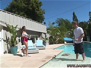 Game flash daddy plows companion crony s daughter-in-law Nina North ravages The Pool stud