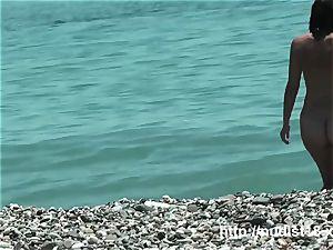 steamy doll at the beach highly super hot hidden cam hunter