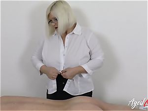 AgedLovE Lacey Starr drilling rock-hard with Soldier