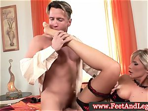 Tiffany Rousso foot fetish stunner fingered in high def