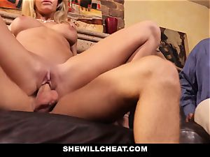 hotwife hubby observes Wifes vagina Get ruined