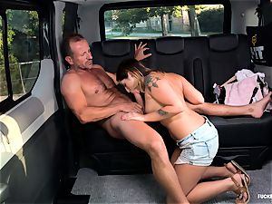 drilled IN TRAFFIC - intercourse in the car with Czech beauty