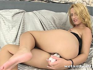 magnificent lengthy haired ash-blonde loves peeing
