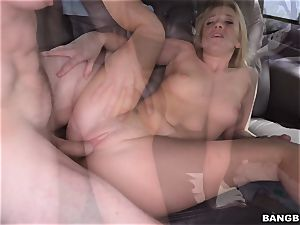 Bailey Brooke smashed on the Bangbus