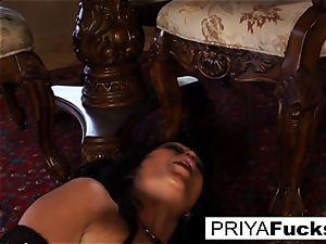 Priya Rai rides a sybian saddle to a gigantic climax