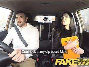faux Driving school Jasmine Jae downright bare fuck-a-thon in car