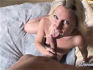 Devon Lee is luving her man's flog jammed in her jummy mouth
