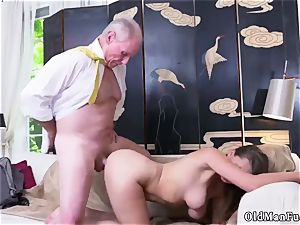 senior mummy pound youthfull lady Ivy impresses with her massive tits and bootie