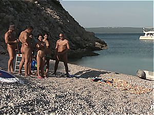 super-naughty group hookup tournament on the beach part 3