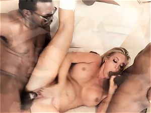 Samantha Saint bi-racial four-way
