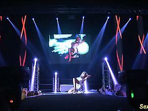 super-naughty flexi stepmom nude on stage