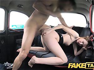 faux taxi slim redhead enjoys raunchy intercourse