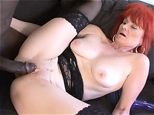 Mature female interracial hard-core cootchie pulverized drinks