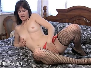 Miranda plays with her wooly lil' vagina