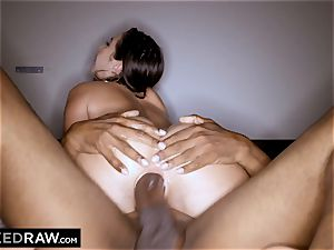 BLACKEDRAW Latina wife squirts with 12 inch monster black jizz-shotgun