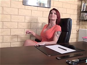 LA COCHONNE - huge-boobed French honey boned at interview