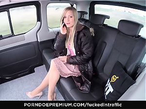 porked IN TRAFFIC - jism on bootie for nasty slim blondie