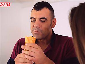 Hungarian honey Amirah Adara gets spunk in her throat