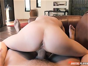 Piper Perri receives a hefty flow to her face by her boyfriends father