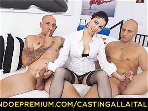 casting ALLA ITALIANA - torrid cougar has double rectal joy