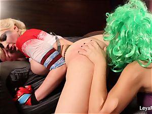 Whorley Quinn Leya gets smashed rigid by She Joker Nadia
