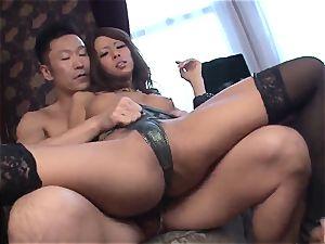 rare Ema Kisaki doing rectal with two ultra-kinky males