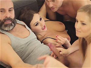 LOS CONSOLADORES - steamy swinger four-way with super-fucking-hot babes