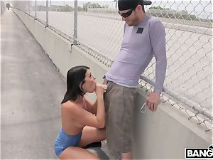 Adriana Chechik - Public assfucked and squirting under city bridge
