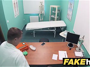 faux polyclinic insane physician gets to screw a new vulva