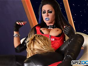 Minge munchers Jessica Jaymes and Cherie Deville get crazy on this space mission