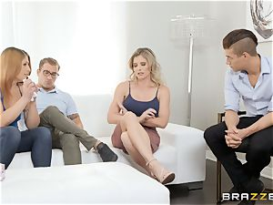 Cory chase cramming a giant fuckpole into her snatch