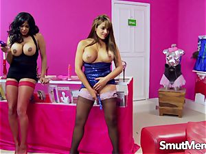 India and Valery swap dildos for hard-on