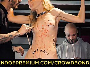 CROWD restrain bondage smallish marionette nymphomaniac fetish group fuckfest