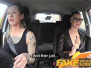 fake Driving school cool rope on joy for fresh driver