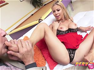 cougar Alexis Fawx rockets All Over Steve's large weenie