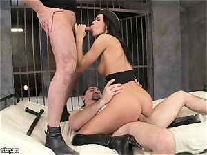 sumptuous Shalina Devine gets a jaws total of rigid beef whistle