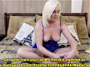 Ms Paris flashes Her Sold ManyVids thong preparation