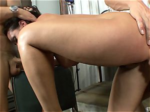 magnificent dark-haired with big udders Charley haunt