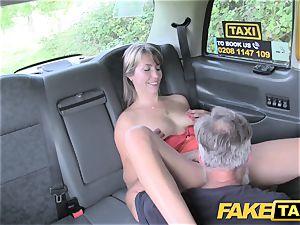 fake cab doll in brief sundress gets a cab internal ejaculation