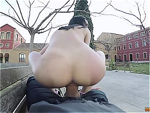 tastey Latina assfuck smashed in public